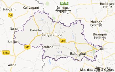 Blocks In Dakshin Dinajpur District West Bengal Census India - Balurghat map